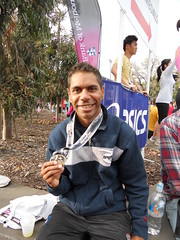 "Charlie Maher with Melb running festival medal • <a style=""font-size:0.8em;"" href=""https://www.flickr.com/photos/64883702@N04/6256408472/"" target=""_blank"">View on Flickr</a>"