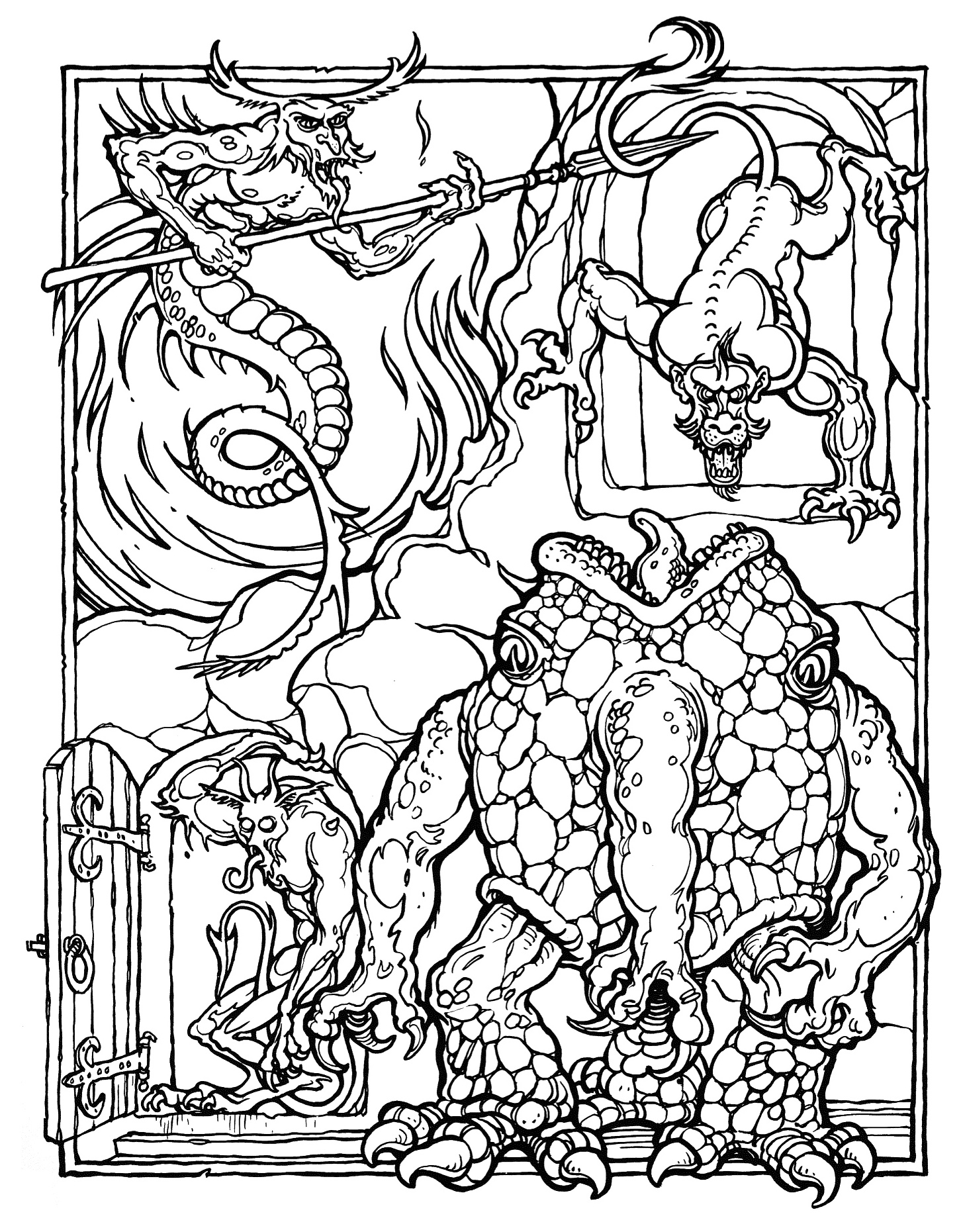 dungeons and dragons coloring pages - photo#12