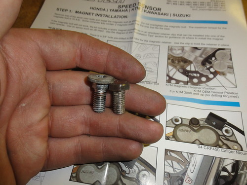 Stock and magnetic bolt