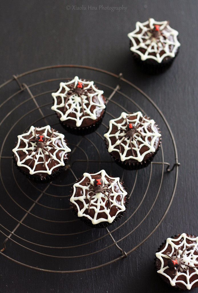Black Widow Chocolate Rum Cupcakes