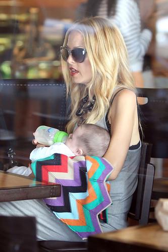 Rachel Zoe and baby Skylar
