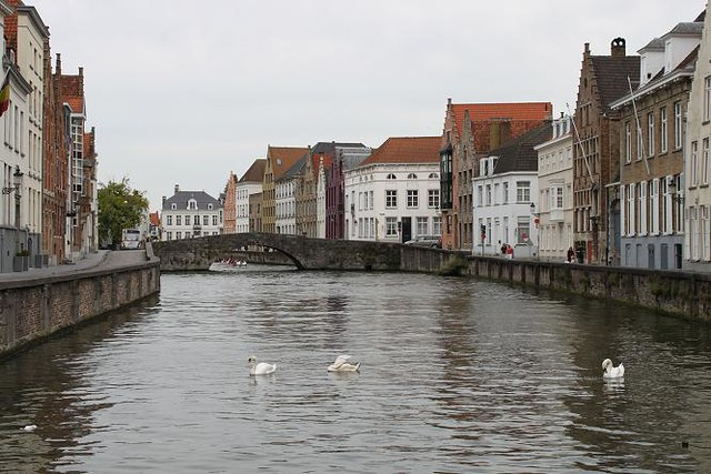 view on canal from Jan van Eyck Square