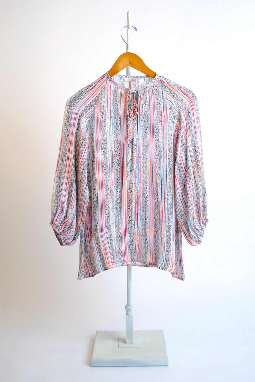 Tie-Neck Long-Sleeve Shirt