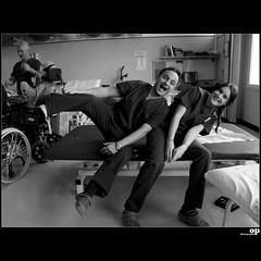 Happy  physiotherapists (Osvaldo_Zoom) Tags: italy ball hospital nikon friend play sicily als physiotherapy neurology sla mistretta physiotherapist aisla d80 fondazionemaugeri neurologicalrehabilitation