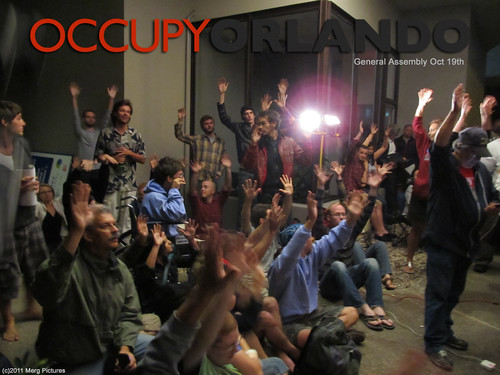 Occupy Orlando General Assembly, October 19th (Photo: OccupyOrlando, flickr)