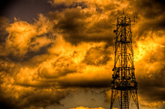 Into The Ether (burgesstaylor) Tags: clouds radio mast hdr ether