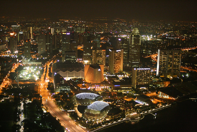 Gorgeous 360 degree views of Singapore from 1-Altitude
