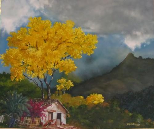Casinha com Ipê amarelo by renartt