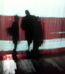 Chalk farm (Nad) Tags: silhouette couple slowshutter iphone roundhouse curtaincall