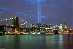 Brooklyn Bridge, New York City (Souvik_Prometure) Tags: nyc newyorkcity usa newyork brooklyn unitedstates manhattan unitedstatesofamerica worldtradecenter 911 brooklynbridge wtc tributeinlight heros 911memorial sigma1020mm 9sept abigfave anawesomeshot nikond90 flickrdiamond 9thsept 911memorialnyc souvikbhattacharya 91110thanniversary