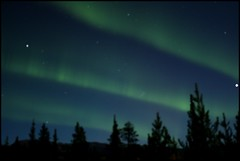 Northern Lights (Northwest haidaan) Tags: cabin yukon northernlights auroraborealis 2011