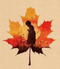 Keep a Little Prayer (dandingeroz04) Tags: autumn art shirt illustration design leaf child prayer tshirt threadless tee