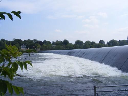The upriver dam
