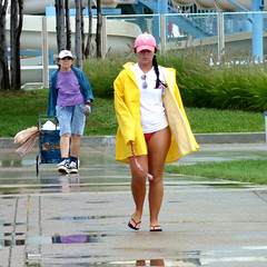 After The Rain (FrogBum) Tags: shadow summer woman reflection rain women michigan lifeguard detroitmichigan macombcounty huronclintonmetroparks harrisontwp metrobeachpark