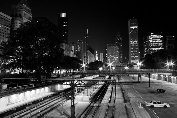 Overlooking Van Buren Station Tracks