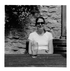 I took this for Greg (ronet) Tags: bw selfportrait film mediumformat lunch blackwhite pub hasselblad burgers scanned redlion publunch hasselblad500cm homedeveloped litton fujiacros100 wetprint ilfordmultigradeiv ronet diydeveloped moerschdeveloper