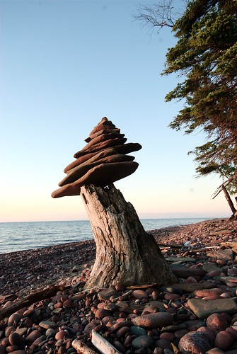 Beach Rock Inuksuk by dcclark