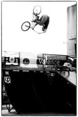 Phi Son Tran FLAIR (BGHK [booga hellka metalheart]) Tags: street urban bw sport dc jump bmx shoes phi action song pierre contest flip quarter flair tran valence dcshoes extrem higt festy fuc festyurbancontest