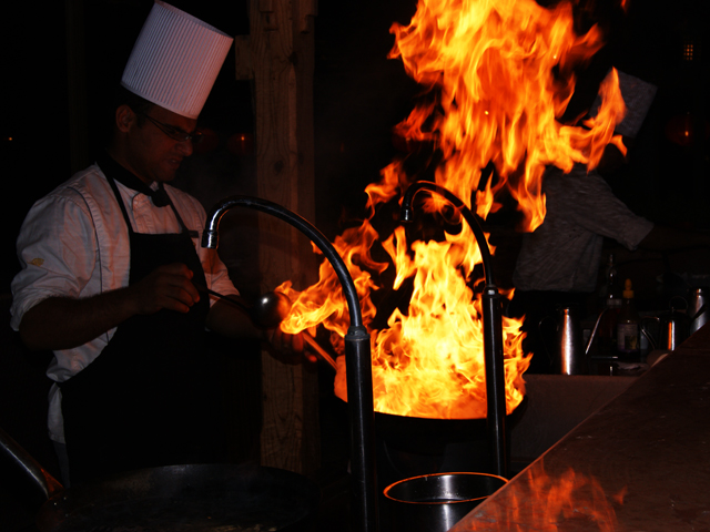 Live Cooking in Morgana Restaurant