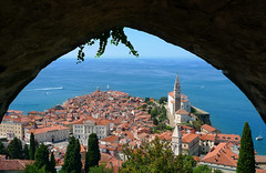 The Slovenian pearl of the Mediterranean (Bn) Tags: old sea streets heritage architecture square geotagged coast town topf50 mediterranean gulf cathedral pirates gothic charm historic slovenia era tribes venetian walls piran slovenija viewpoint picturesque narrow cultural adriatic alleys istria slovene pirano sloveni tartini istrian preroman histri 50faves giuseppi illyrian georgius obzidje gulfofpiran piransko geo:lon=13572254 geo:lat=45528116