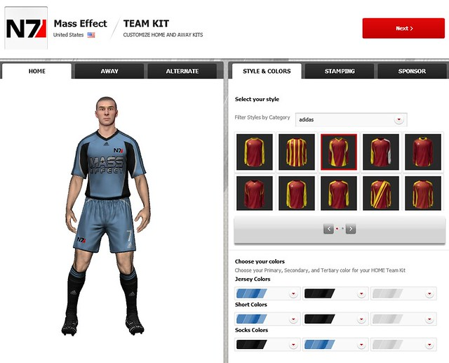 FIFA 12 Creation Centre: New Kit Options