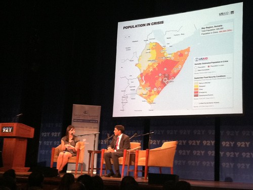 USAID's Dr. Raj Shah launching the initiative on stage at the Mashable Social Good Summit