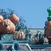 Pumpkins at the entrance