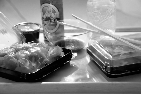 sushi and (non-alcoholic) beer at last