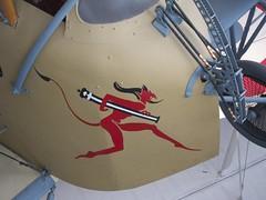 Devil's Cannon (Desmo Dave) Tags: aircraft cannon devil ww1 noseart lebourget caudron