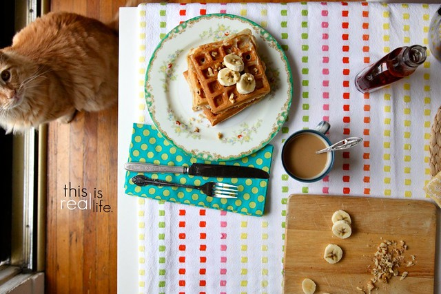 Banana Walnut Waffles | Joy the Baker