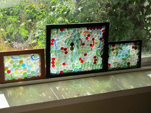 "All three ""stained glass windows"""