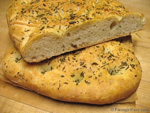Farmgirl Fare: Recipe: Easy Rosemary Focaccia (Italian Flatbread) with ...