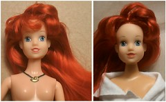 Ariel before (~ Liana77 ~) Tags: ariel doll little disney redhead ugly boneca mermaid pequenasereia