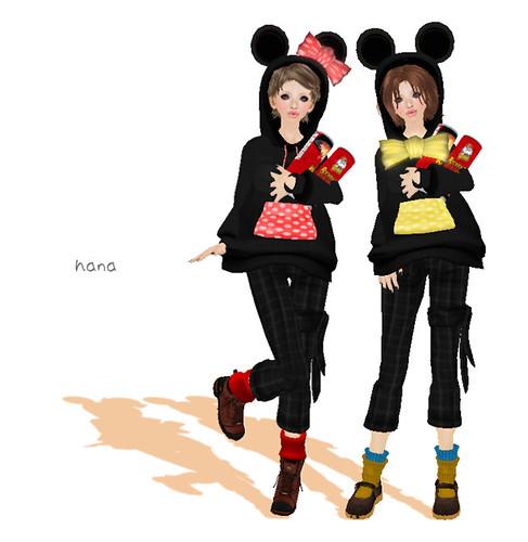 *RibboN*Mouse hoodie (type2) LB 1