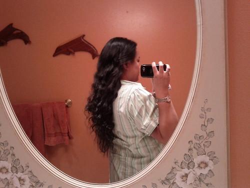 My hair is long