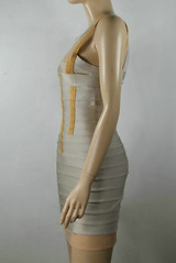 N021 (5) (Herve Leger Robe) Tags: color dress gray bandage herve leger sleeveless n021