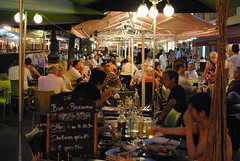 Alfresco dining in Cours Saleya (zawtowers) Tags: holiday france price night menu french outside restaurant nice riviera september covered tables fixed dining cote seating alfresco cours courses dazur 2011 saleya