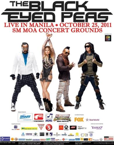 Black Eyed Peas Live in MANILA on October 25 at SM MOA Concert Grounds