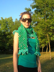 Emerald Green Crochet Shrug With Turquoise Lace (babukatorium) Tags: green art lana wool fashion scarf warm handmade lace turquoise oneofakind pastel crochet moda style romantic bohemian shrug whimsical sciarpa mintgreen maglia ruffle bolero haken cachecol hkeln emeraldgreen croch ganchillo uncinetto fattoamano lam  coprispalle tii horgolt babukatorium