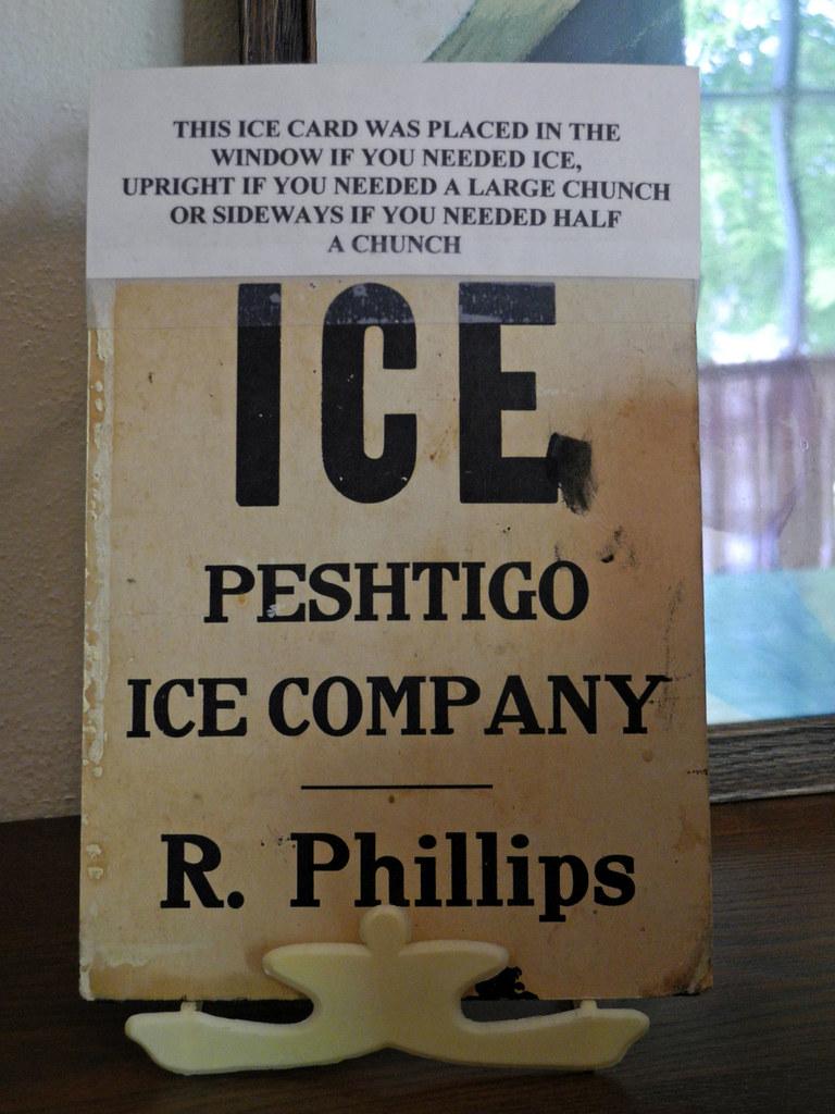 Ice Card, Peshtigo Fire Museum, Wisconsin