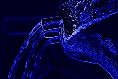 Cool, Clear, Blue Water (scismgenie) Tags: blue water sketch neon linda pouring picnik loma foutain scism cloaeup jeffscism