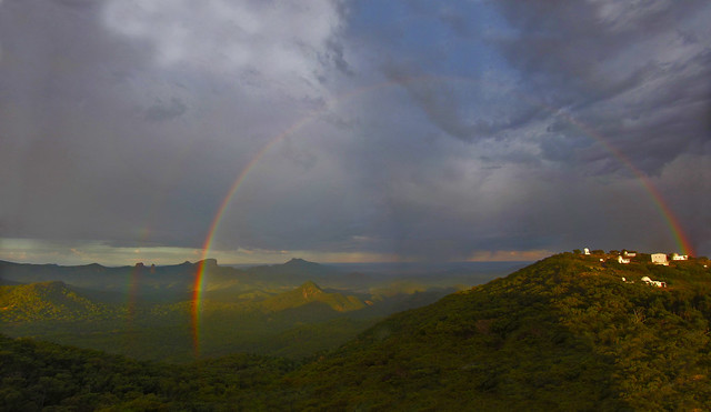 Double rainbow  over Siding Spring Observatory