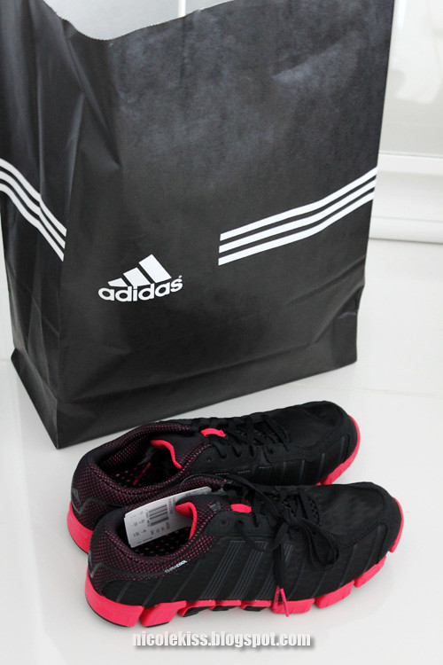 adidas pink and black shoes