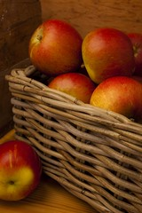 To Autumn (menickstephensorg) Tags: autumn red tree apple yellow fruit poetry poem produce canonef2470mmf28lusm keats johnkeats fruitfulness coxsorangepippin canoneos5dmk2