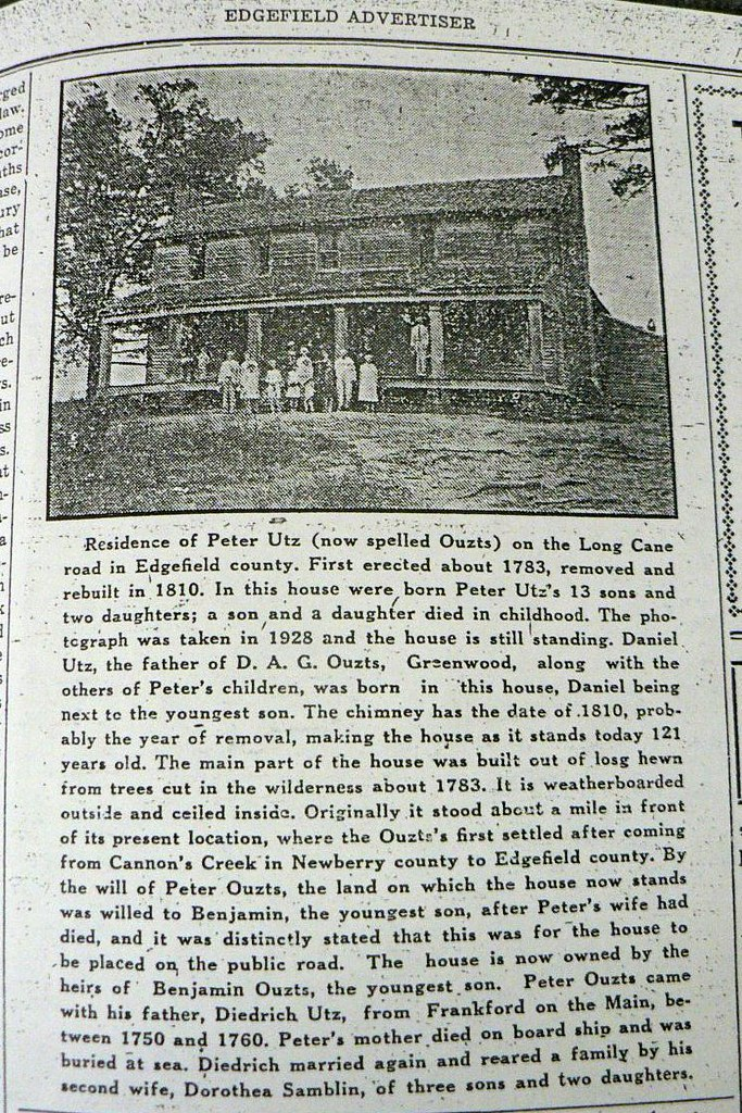 Ouzts House - Newspaper 1