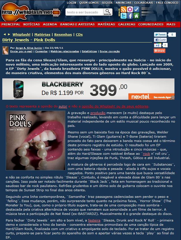 Dirty Jewels Review on Whiplash!