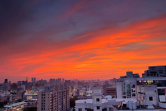 119 - After Sunset on Taichung City (Have to be called 911) (prince470701) Tags: sunset clouds taiwan   taichungcity hotelone  sonya850 song2470za
