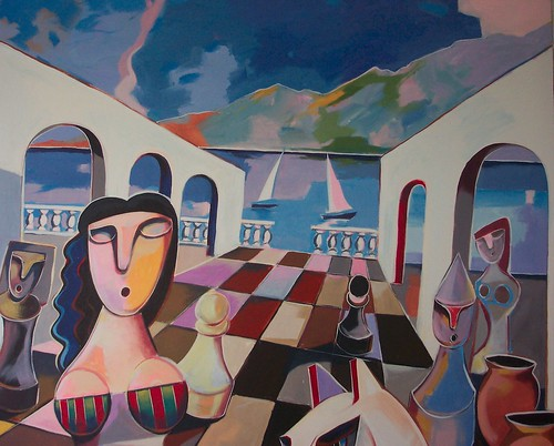 Decisions - Painting - Cubism