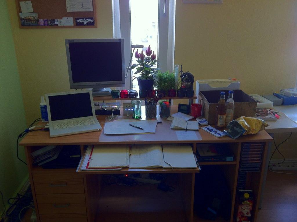 My old desk, till September 23rd, 2011