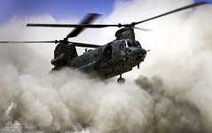RAF Chinook Creates Dust Cloud Landing in Afghanistan (Defence Images) Tags: uk cloud afghanistan military equipment helicopter british op dust chinook operation campaign defense defence raf afganistan herrick brownout hc2 royalairforce helmand hc2a